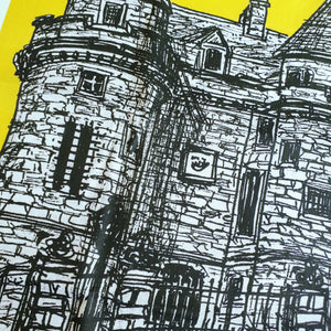 Falkland Sketch Tea Towel Mustard