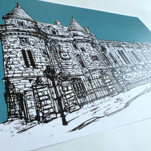 Load image into Gallery viewer, Falkland Sketch A5 Linen Print Teal