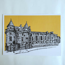 Load image into Gallery viewer, Falkland Sketch A5 Linen Print Mustard