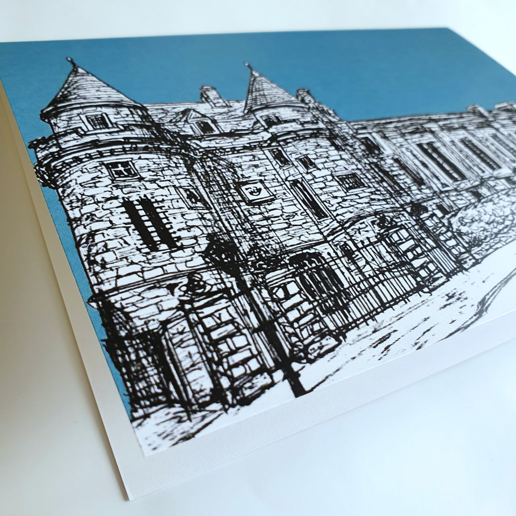 Falkland Sketch Card Teal
