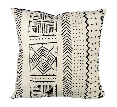 Aztec Cushion White