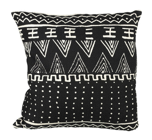 Aztec Cushion Black