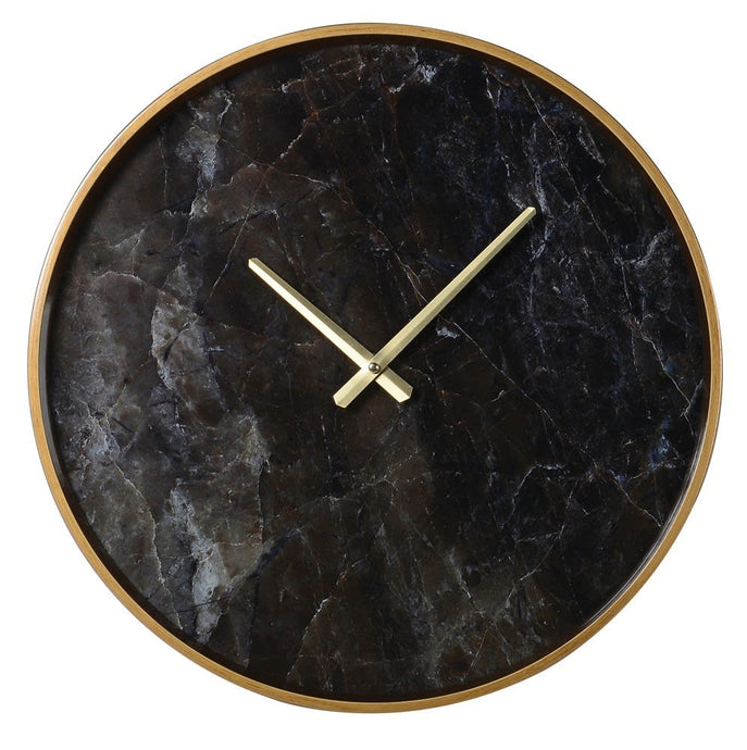 Black Marble Effect Clock