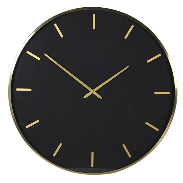 Large Black & Gold Clock