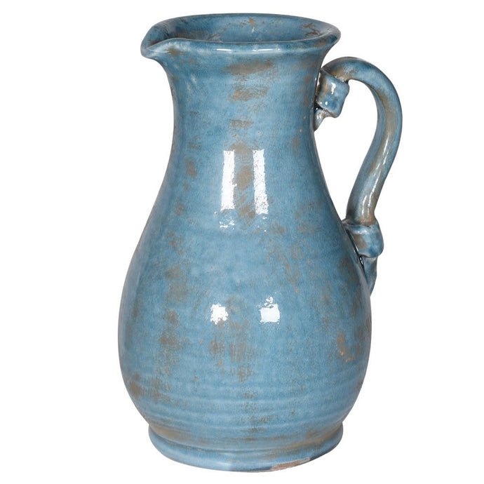 Blue Ceramic Jug With Handle