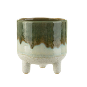 Mojave Glaze Planter Green