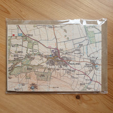 Load image into Gallery viewer, Falkland Map Wooden Postcard