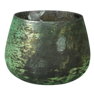Green Crackle Glass Votive