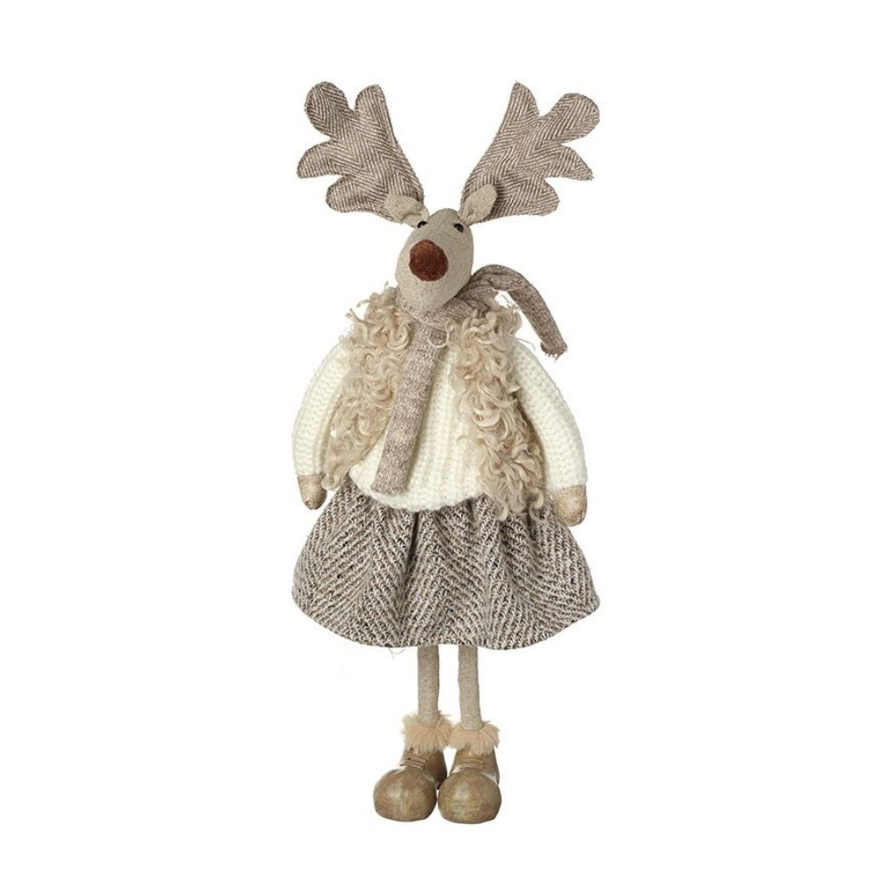 Girl Reindeer with Cream Scarf