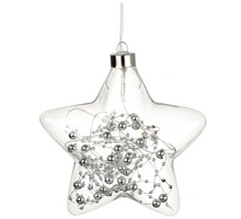 Load image into Gallery viewer, Silver Glass LED Star