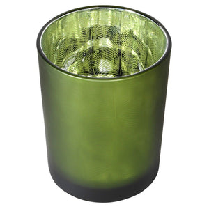 Green Frosted Candle Holder