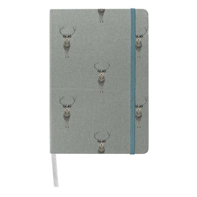 Highland Stag Fabric Notebook