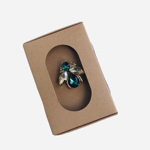 Green Bee Pin Brooch