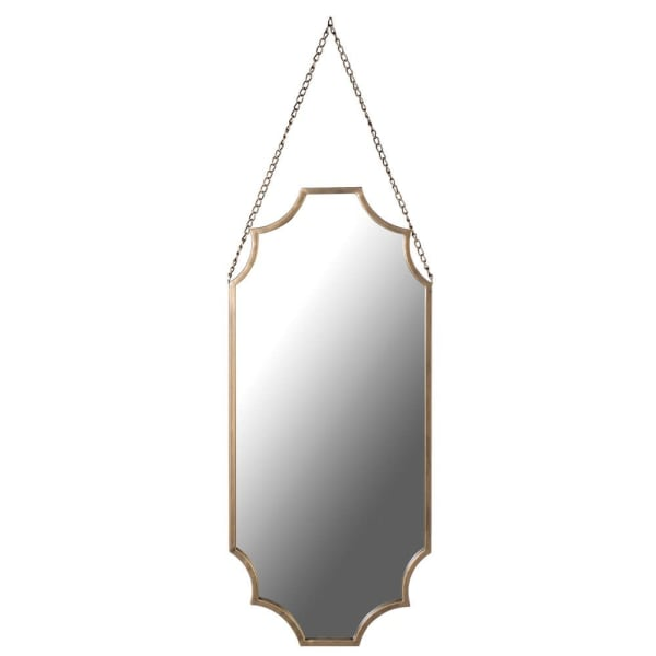 Long Gold Mirror with Chain