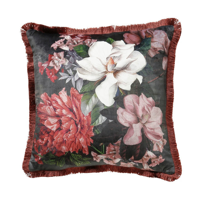 Magnolia Floral Blush Cushion
