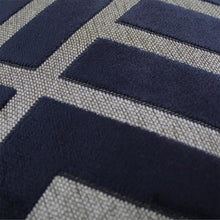 Load image into Gallery viewer, Navy Pattern Cushion