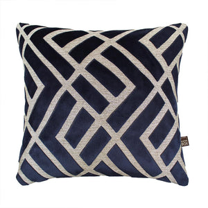 Navy Pattern Cushion