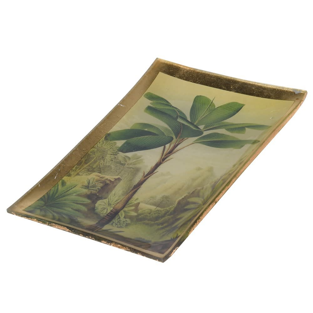 Vintage Palm Tree Trinket Dish