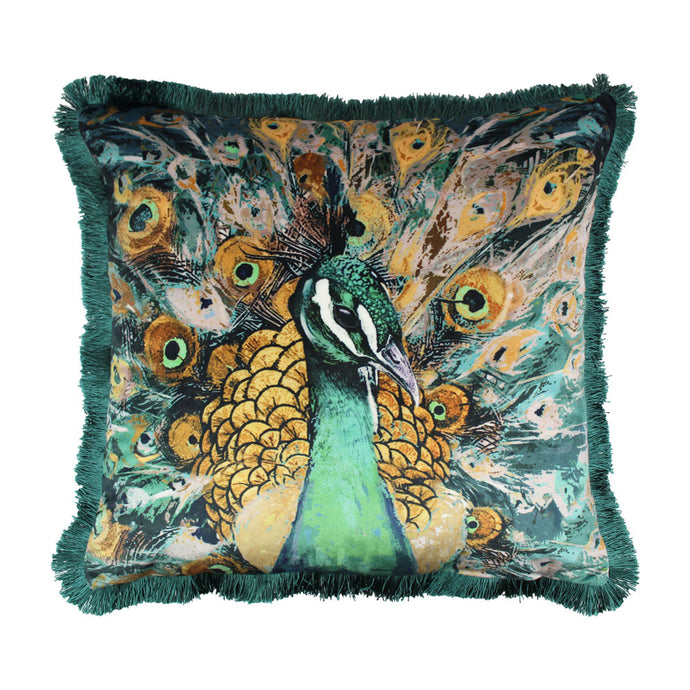 Peacock Teal Cushion