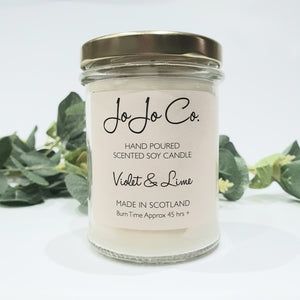 Violet & Lime Candle