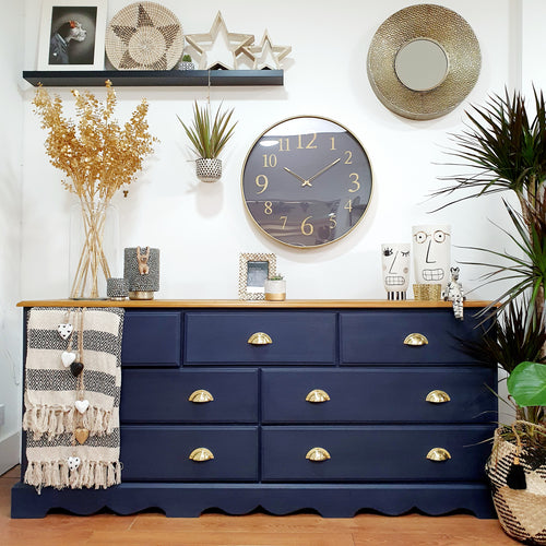 Pine Oxford Navy Sideboard