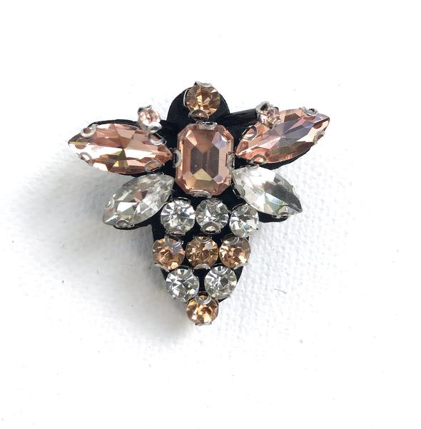 Champagne Queen Bee Pin Brooch