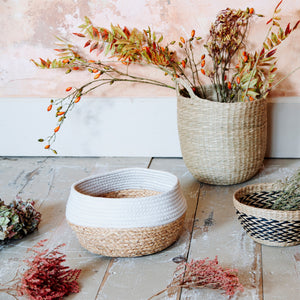 Seagrass Basket White