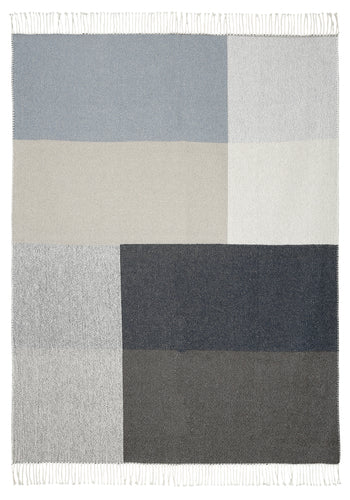 Blue and Grey Check Throw