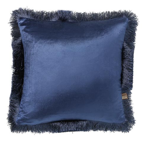 Royal Blue Frill Cushion