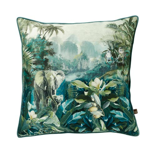 Safari Green Print Cushion
