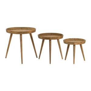 Loft Style Trio of Round Tables