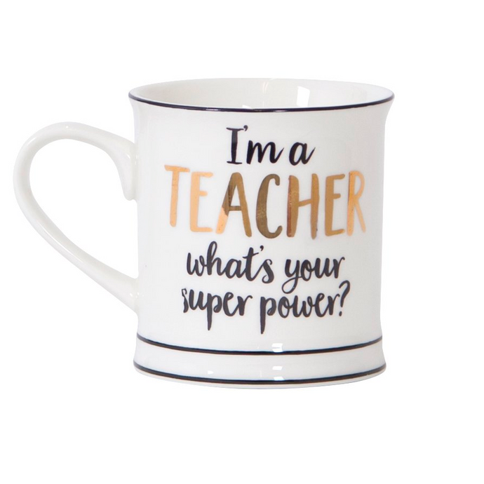 Super Power Teacher Mug
