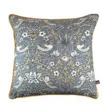 Load image into Gallery viewer, William Morris Grey and Gold Print Cushion 58 x 58 cm