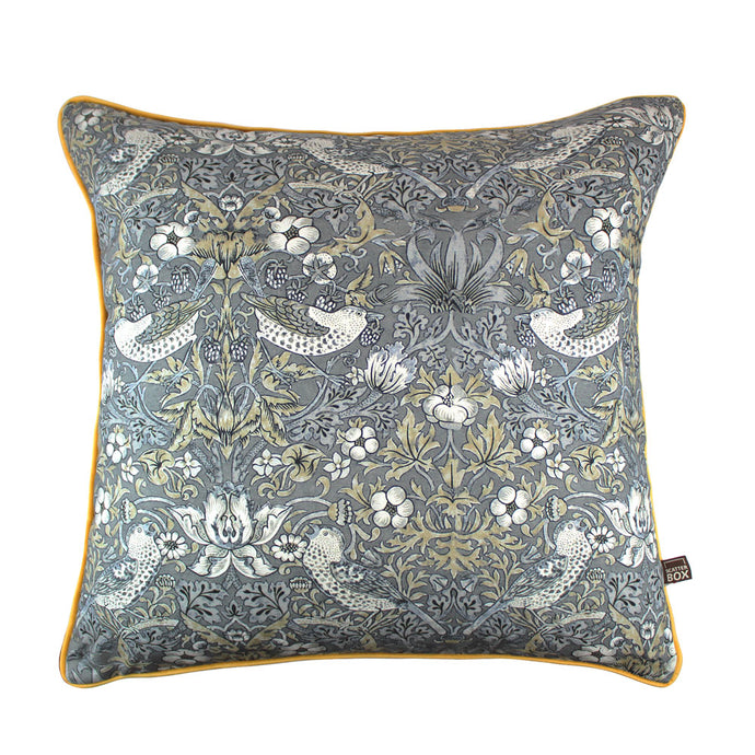 William Morris Grey and Gold Print Cushion 43 x 43cm
