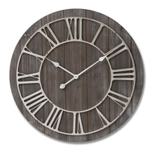 Load image into Gallery viewer, Wooden Clock with Nickle Detail