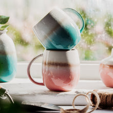 Load image into Gallery viewer, Glazed Ombre Turquoise Mug