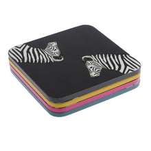 Load image into Gallery viewer, Zebra Coasters Set of 4