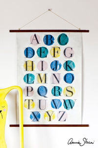 Annie Sloan Chalk Paint™ Image Medium Decoupage image transfer alphabet wall hanging