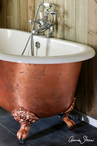 Annie Sloan Chalk Paint™ Loose Leaf in Copper, Aluminium and Brass finished bathtub