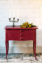 Load image into Gallery viewer, Annie Sloan Chalk Paint™ Burgundy Side Table staged