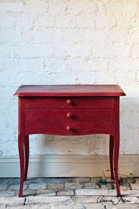 Annie Sloan Chalk Paint™ Burgundy Side Table