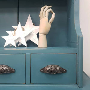 Antique Dresser Annie Sloan Chalk Paint - Custom Mix of Aubusson Blue, Provence and Duck Egg Blue