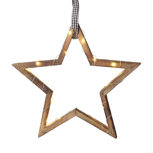 Wooden Light Up Star