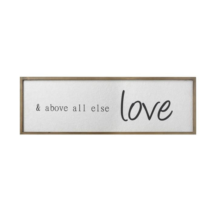 Above All Else Love Sign