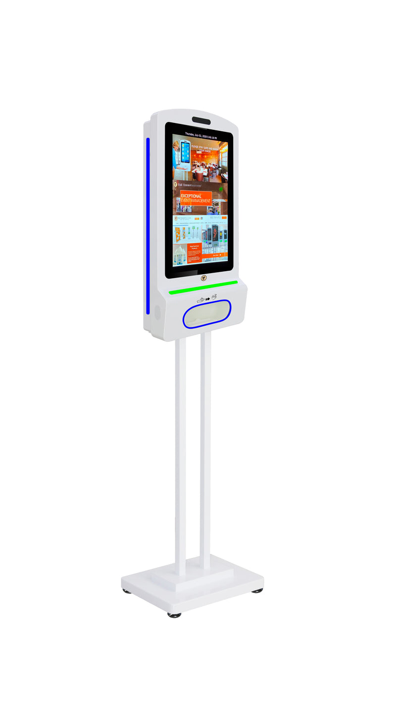 Digital Hand Sanitizer Kiosks with Stand, Camera