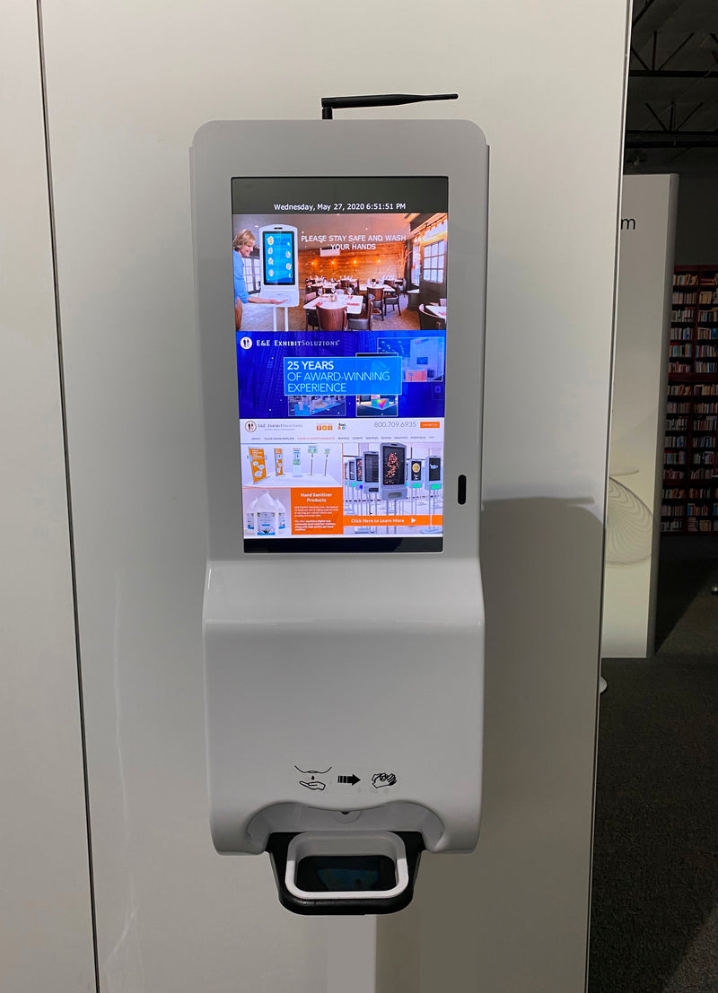 Digital Hand Sanitizer Touch Screen Kiosk Wall Mount