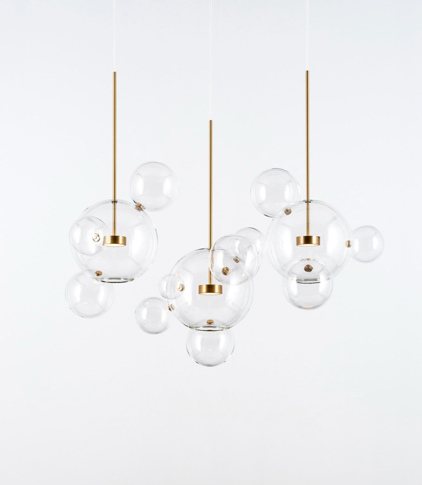 Bolle Linear Chandelier 14 Bubbles