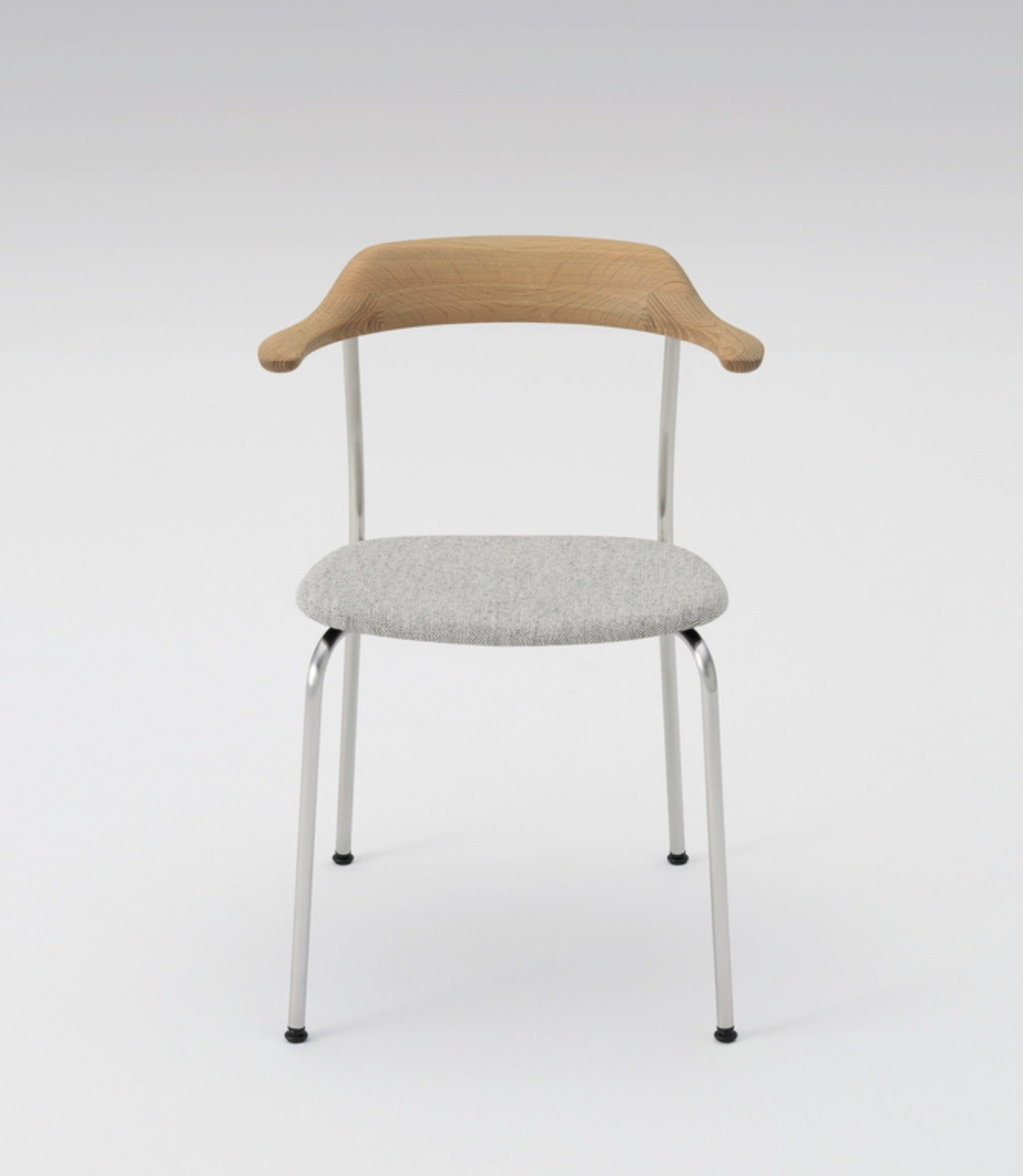 Hiroshima Armchair Upholstered Stackable Wooden Seat