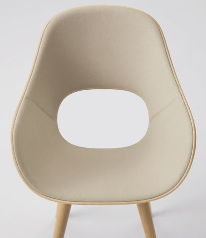 Roundish Armchair Cushioned