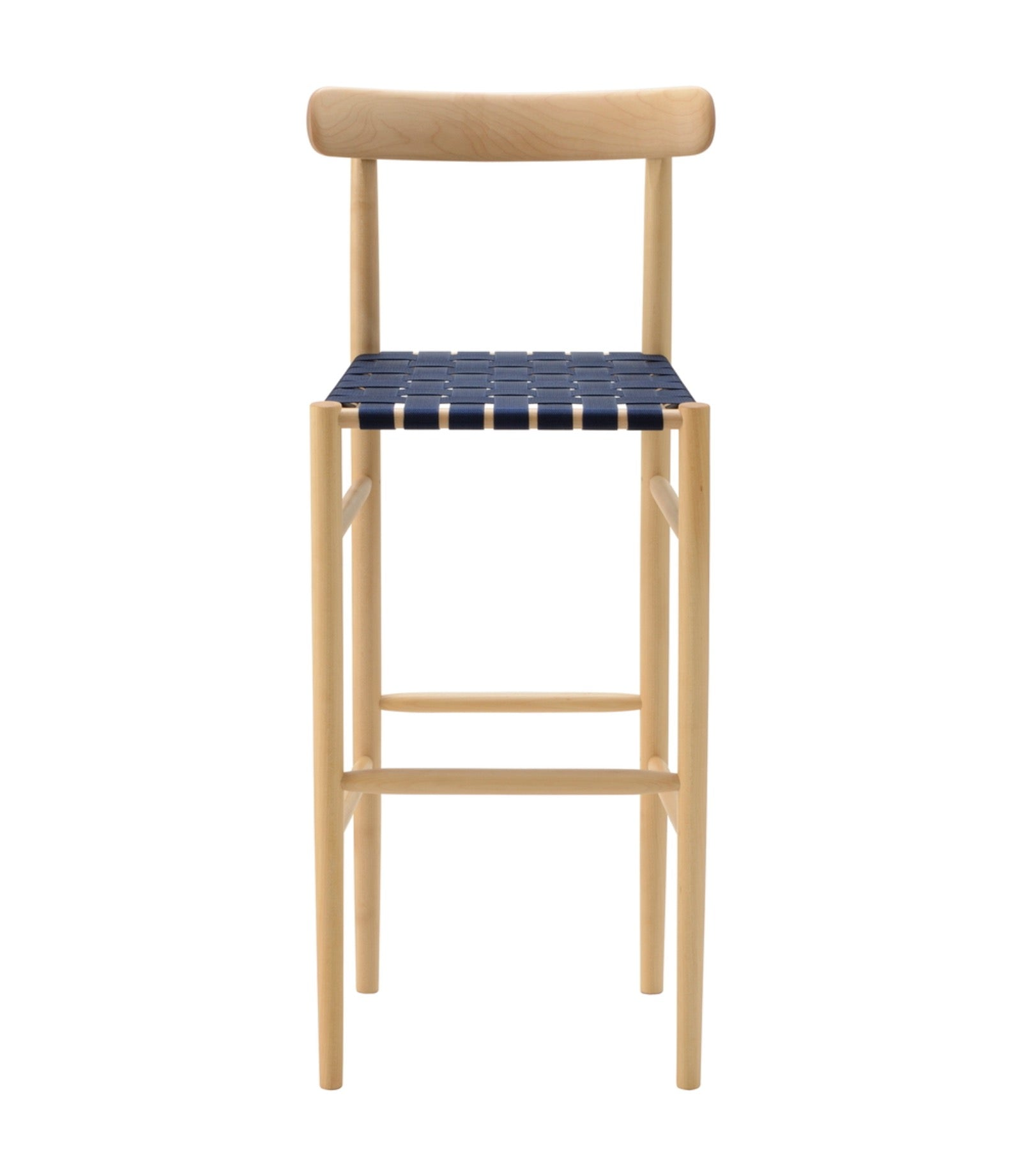 Lightwood Bar Stool High Webbing Seat